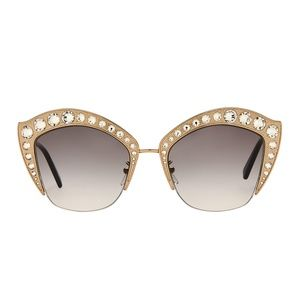 Gucci Crystal Cat Eye Sunglasses
